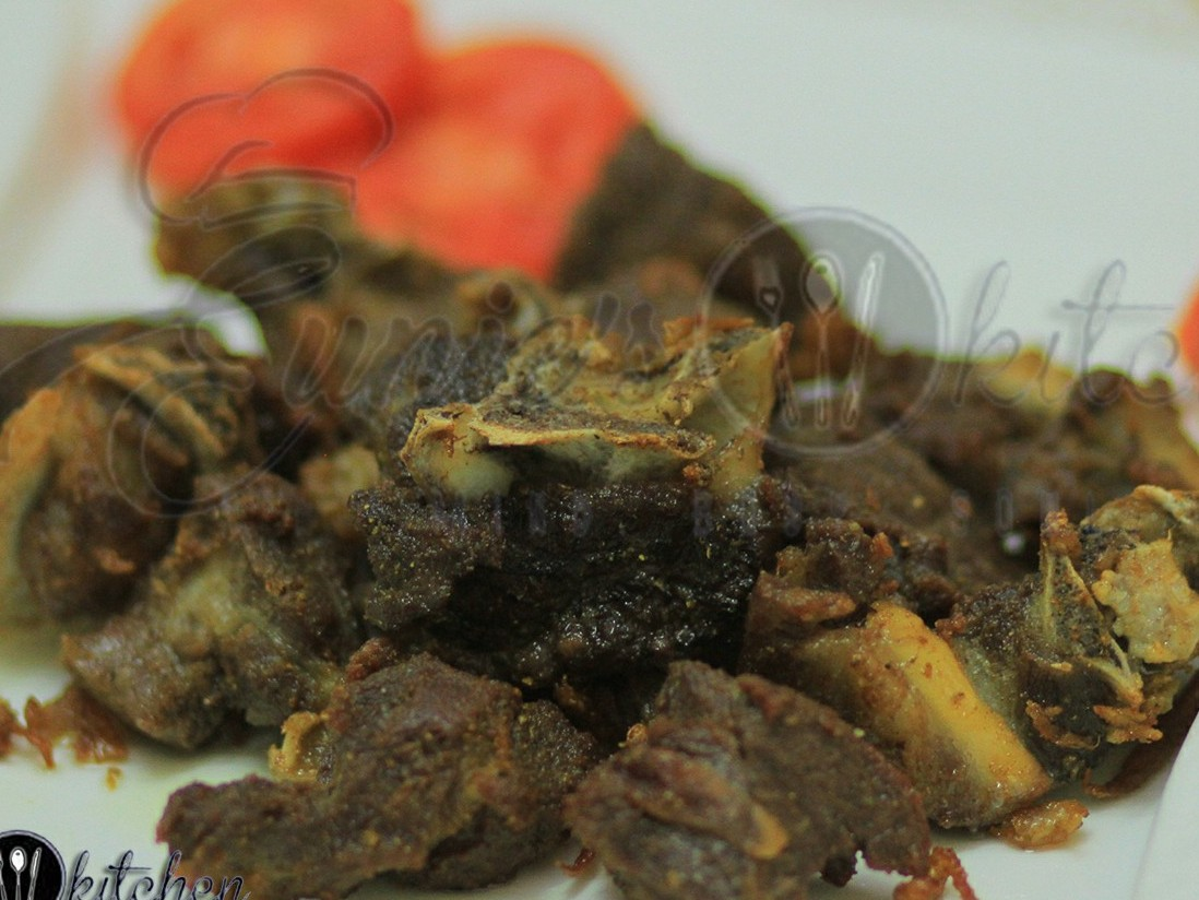Fried Goat choma